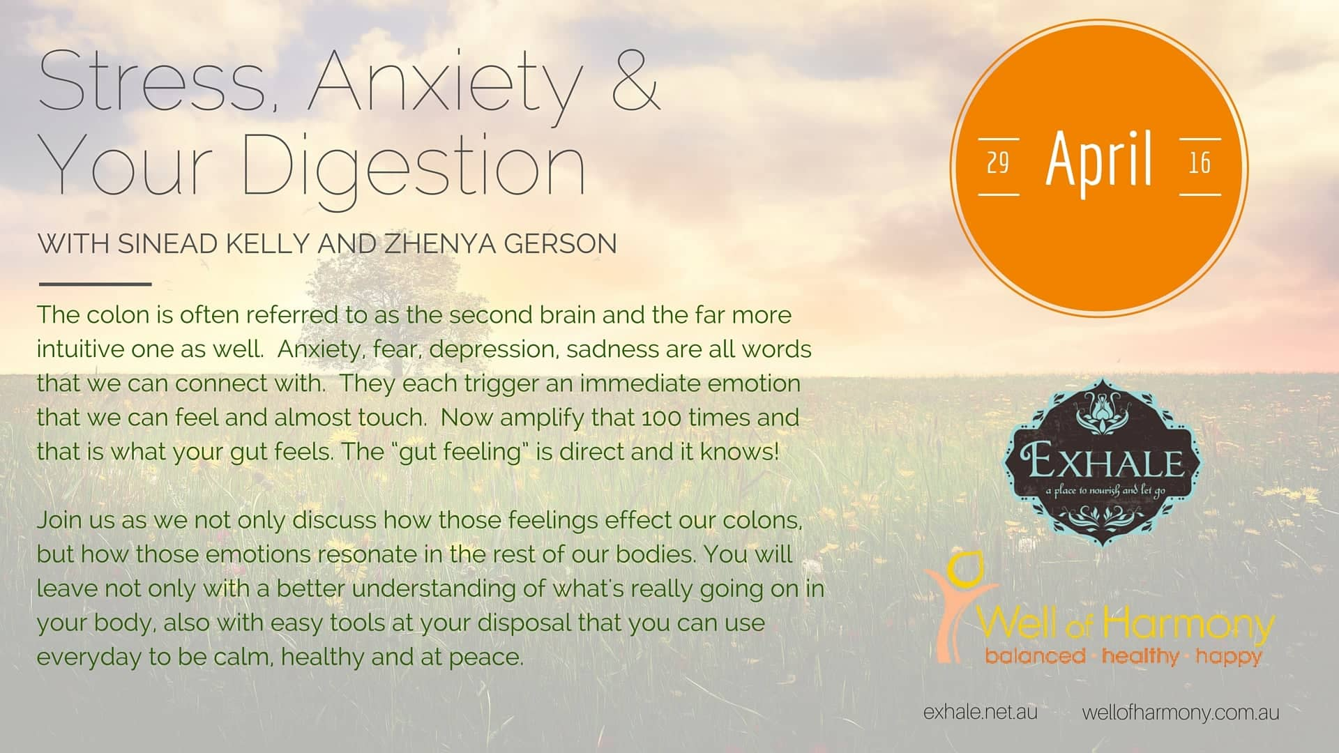 Stress, Anxiety and Your Digestion Workshop